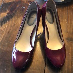 Nickels red patent heels
